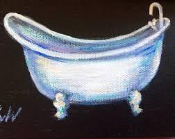 Clawed Bathtub Bathtub Art Etsy