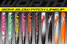 worth legit new 2014 worth pitch softball bats