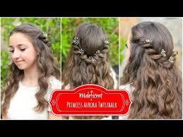 Disney Princess Hairstyles Princess Aurora Twistback Inspired By Disney U0027s Maleficent Youtube