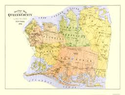 Long Island New York Map by Old County Map Queens New York 1891