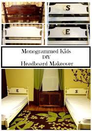 monogrammed kids headboard makeover myeye4diy com