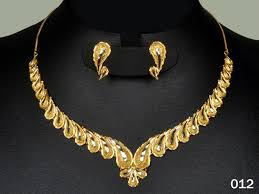 gold set 012 buy necklace earings sets gold jewelry rodiam plated light