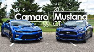car and driver mustang vs camaro 2016 ford mustang gt vs 2016 chevrolet camaro ss comparison