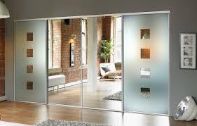 Sliding Glass Mirror Closet Doors Reliabilt Mirrored Closet Doors Sliding For Bedrooms Hollow