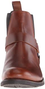 frye men u0027s stone harness chelsea motorcycle boot whiskey size