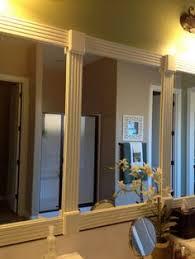 how to frame a bathroom mirror diy mirror moldings and bathroom