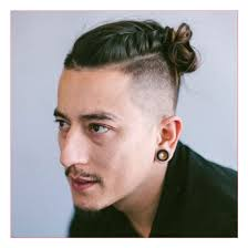 hairstyles for men with square jaws hairstyles for men with square faces along with top knot with