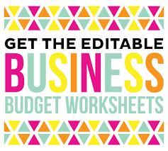 free printable business budget worksheets printable crush