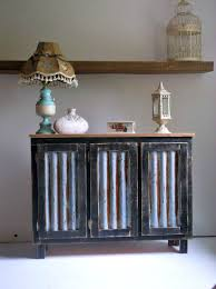 Coffee Bar Cabinet Black Solid Wood Farmhouse Coffee Bar Cabinet With Reclaimed Metal