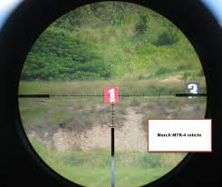 mtr to ft march rifle scope reticles
