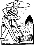Friends Across America - Free Printable Coloring Page - Mowing the ... friendsacrossamerica.com