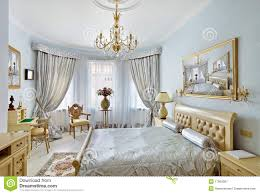 classic style luxury bedroom interior in blue stock image image