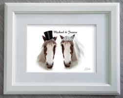 Engraved Wedding Gifts Ideas Horse Wedding Etsy