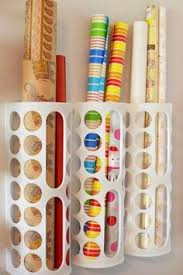 wrapping paper holder 25 organization ideas for the home wrapping paper storage