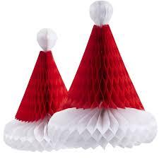 santa hats 3pcs christmas honeycomb santa hats paper santa claus hats christmas