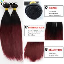 Two Tone Ombre Hair Extensions by Weave Human Hair Picture More Detailed Picture About Brazilian