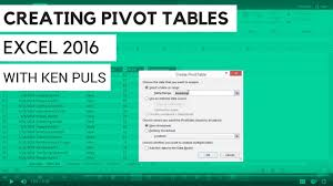 How To Create Pivot Tables In Excel How To Create Pivot Tables In Excel 2016 Youtube