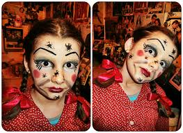 halloween makeup for toddlers annabelle doll halloween makeup for kids youtube