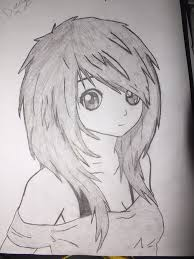 Emo Hairstyles Drawings by Drawn Manga Cute Drawing Pencil And In Color Drawn Manga Cute