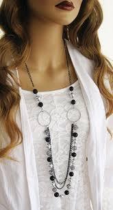 long black chain necklace images Long black beaded necklace long blue beaded necklace beaded jpg