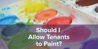 should i allow my tenants to paint a rental property