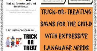 let u0027s talk speech and language trick or treating with children