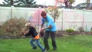 little kids football hits big youtube