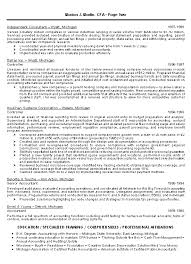 Financial Resume Example by Cpa Resume Example
