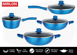 home pans non stick ceramic flat induction based pots and pans combo