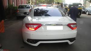 maserati gt white exclusive pics black maserati granturismo in mumbai edit a