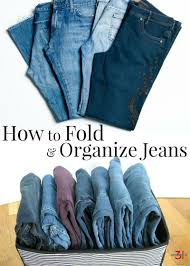 How To Organize Pants In Closet - how to fold and organize jeans organized 31
