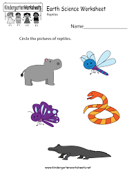 free printable earth science worksheet for kindergarten