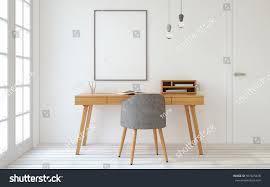 interior home office scandinavian style mockup stock illustration