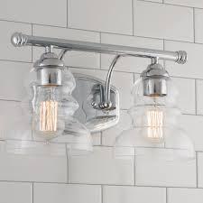Bathroom Light Shade Modern Ridged Shade Bath Light 2 Light Shades Of Light