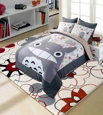 anime my neighbor totoro bedding set 4 pcs cartoon duvet quilt