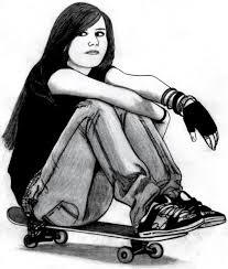 skateboarder drawing skater closeup by superartistboy