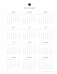 Printable Halloween Calendar Free Printable 2017 Yearly Calendar U2013 Emily Ley U2026 Calendars