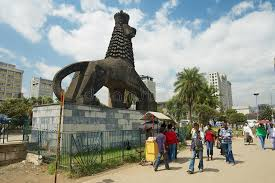 lion of judah statue walk by the next to the iconic statue of the lion of