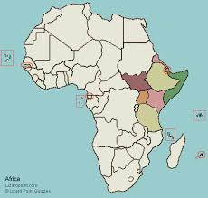 africa map quiz capitals test your geography knowledge eastern africa countries lizard