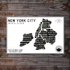 new york city map black and white art new york city cityscape