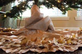 Christmas Tree Skirt Burlap How To Decorate A Christmas Tree Holiday Series 5 U2013 The Bajan Texan