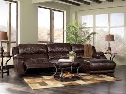 Home Decor Brown Leather Sofa Modern Leather Sectional With Recliner And Chaise Furniture Brown