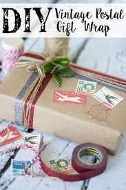 postal wrapping paper diy vintage postal gift wrap