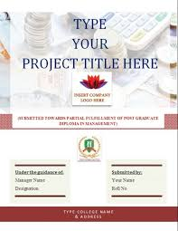 design of cover page for project project cover page template blue annual report title page sle