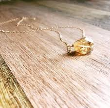 crystal necklace gold chain images Raw crystal necklaces catching wildflowers jpg