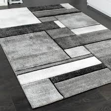 Wohnzimmer Teppiche Modern Wohnzimmer Teppich Modern Trendig Meliert In Grau Design Teppiche