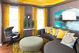 grey and mustard living room ideas yellow curtains contemporary