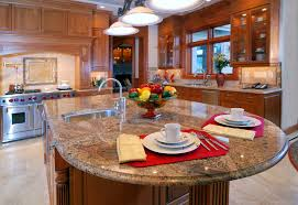 Kitchen Island Granite Countertop Kitchen Islands Aspect Metal Backsplash Tiles Granite Kitchen