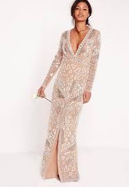 wedding maxi dresses bridal sequin maxi dress silver missguided