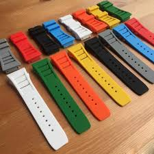 rubber bracelet watches images 26mm rubber watch band strap bracelet for richard mille rm watch jpg